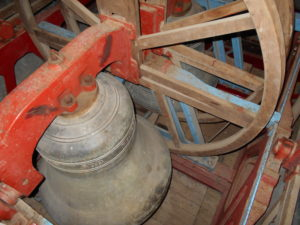 In the bell tower