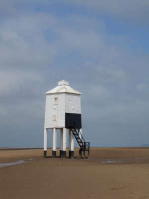 "Funny little lighthouse of Burnam-on-Sea, otherwise called ""iconic."""