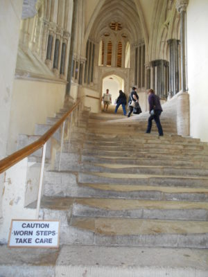 Chapter House steps, worn with use
