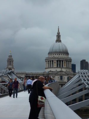St Paul's from the wobbly bridge